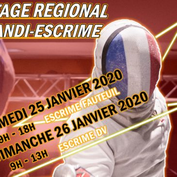 Stage régional Handi-escrime