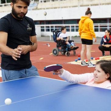 Entrainement tennis de table Handisport